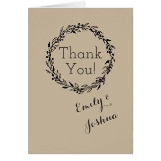 Template Brown wedding Custom - thank you card