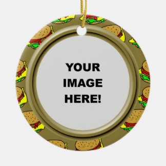 Template, Burger Border Ceramic Ornament