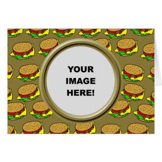 Template, Burger Border Greeting Cards