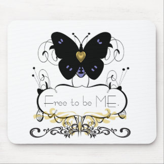 TEMPLATE_BUTTERFLY(c) Unisex- FREEDOM* Mouse Pad