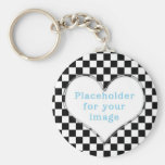 "Template ""Chequered"" Key Chain"