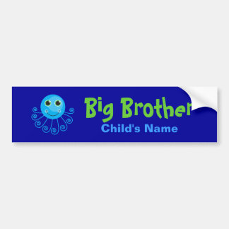 Template - Custom Octopus Big Brother Child's Name Bumper Stickers