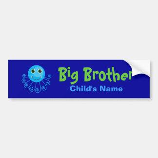 Template - Custom Octopus Big Brother Child's Name Bumper Sticker