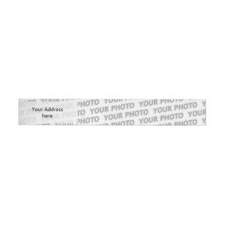 Template - Custom your text, image & background Wraparound Address Label