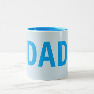 TEMPLATE DAD père U can change color font style Two-Tone Coffee Mug