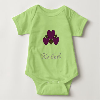 """Template_Design"" -Multi-Colors_Hearts_Name_ Baby Bodysuit"