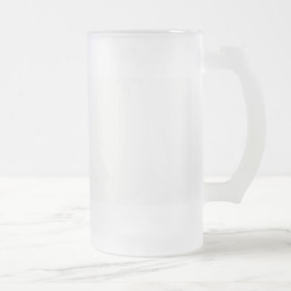 Template diy Add text photo change colour Frosted Glass Beer Mug