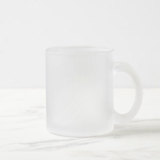 Template diy Add text photo change colour Frosted Glass Coffee Mug