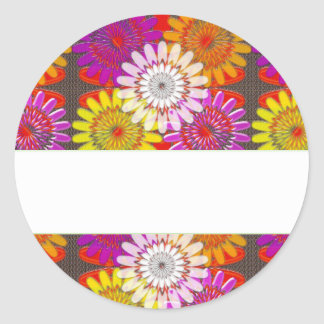Template DIY BLANK add Greeting Name change IMAGE Classic Round Sticker