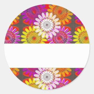 Template DIY BLANK add Greeting Name change IMAGE Round Sticker