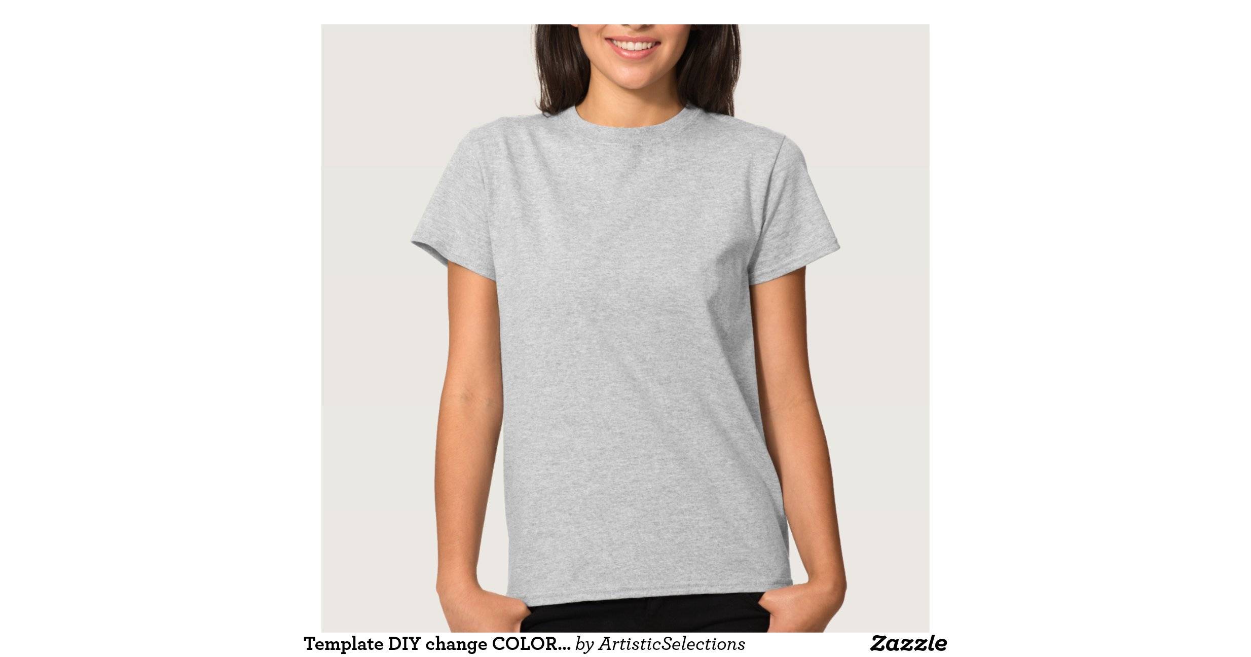 Template diy change color add text greeting photo t shirt for Zazzle t shirt template
