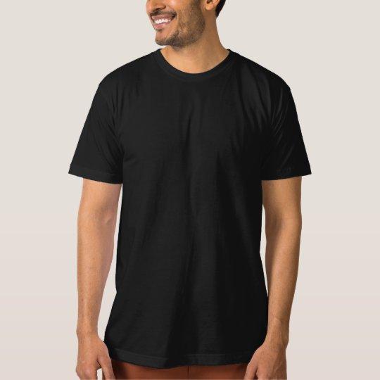 Template DIY easy customise ORGANIC T-SHIRT black