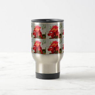 TEMPLATE DIY easy customize replace TEXT PHOTO Stainless Steel Travel Mug