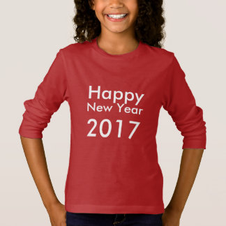 Template DIY editable text Happy New Year 2017 T-Shirt