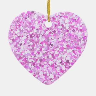 Template DIY Pink Graffiti Confetti Add Text Image Christmas Tree Ornament