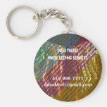 Template : DIY Replace your OWN TEXT n Image Basic Round Button Key Ring