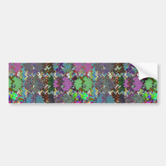 Template DIY Waves Patterns Textures Colorful Gift Bumper Sticker