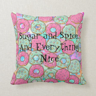 Template Donut Cookie Candy Design Cushion