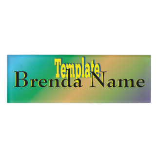 Template Easy Create Your Own Name Tag
