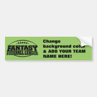 TEMPLATE Fantasy Football League Bumper Sticker