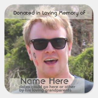 Template for  Donation Bookplate Sticker