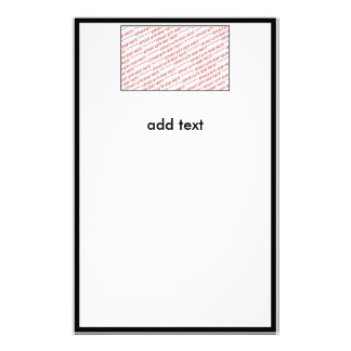 Template for Group or Class Photo Stationery