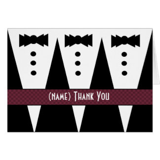 Template for PHOTOGRAPHER Thank You - 3 Tuxedos Cards