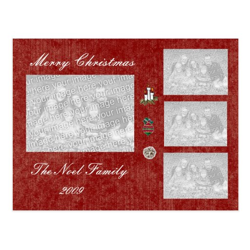 TEMPLATE - Holiday Photo Card Post Card