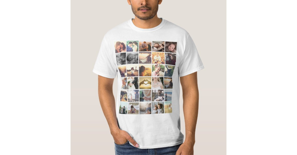 Template photo collage t shirt zazzle for Zazzle t shirt template