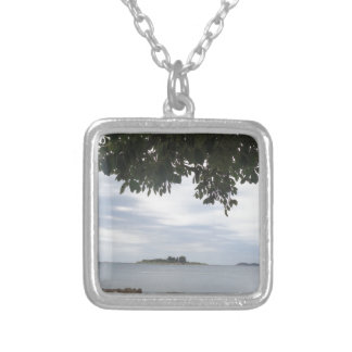 Template Photo Rectangle Camera Silver Plated Necklace