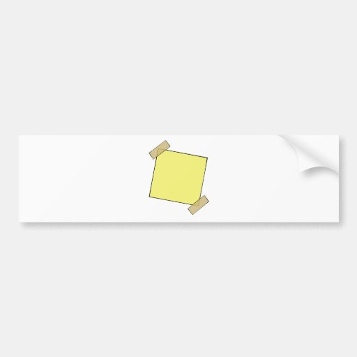Template- Post It Note Tape Bumper Sticker