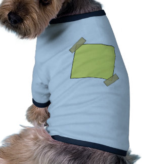 Template- Post It Note Tape Doggie Tee Shirt