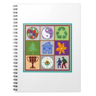 TEMPLATE reseller customer SYMBOLIC ART tell story Notebook
