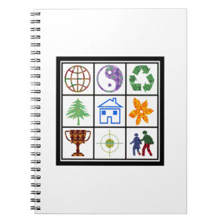 TEMPLATE Resellers Customers SYMBOLS motivational Spiral Notebook