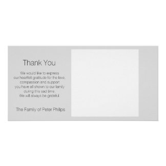 Template Sympathy Thank you Add favorite image 2 Personalized Photo Card