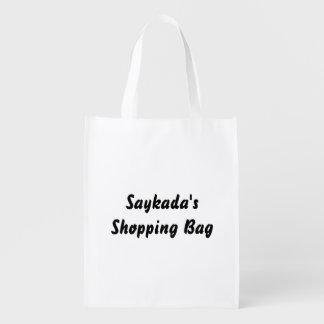 Template Text Reusable Bag