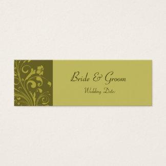 Template - Wedding Favor Tag Mini Business Card