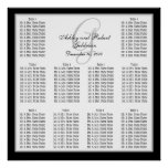 Template Wedding Seating Chart Monogram Names Posters