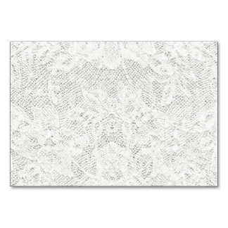 Template - White Lace Background Card
