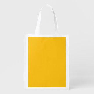 template yellow reusable grocery bag