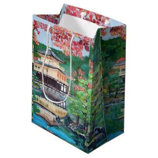 Temple and Garden -Custom Gift Bag - Medium, Matte