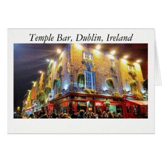 Temple Bar Dublin Ireland Card