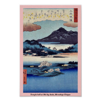 Temple bell at Mii by Ando, Hiroshige Ukiyoe Poster