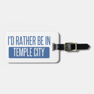 Temple City Luggage Tag