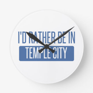 Temple City Round Clock