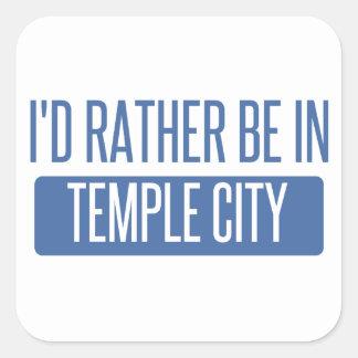 Temple City Square Sticker