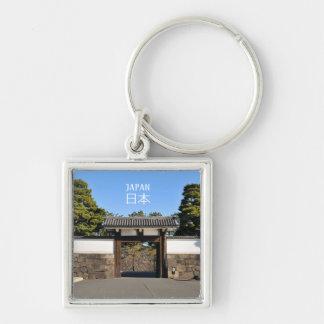 Temple gate in Tokyo, Japan Key Ring