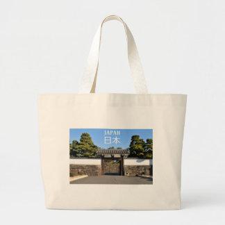 Temple gate in Tokyo, Japan Large Tote Bag