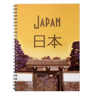 Temple gate in Tokyo, Japan Notebook
