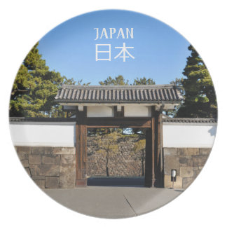 Temple gate in Tokyo, Japan Plate